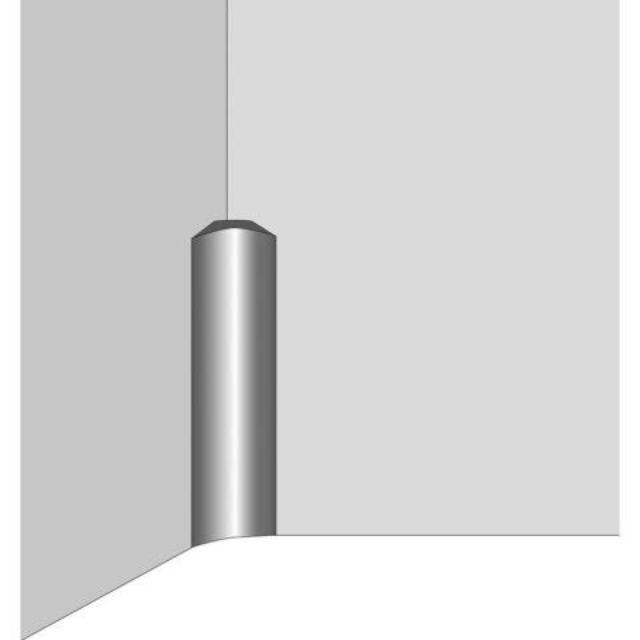 Plintprofiel pvc (binnenhoek)